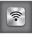 Wi-fi icon - metal app button vector