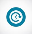 Time icon bold blue circle border vector