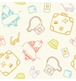 Cartoon travel seamless pattern vector