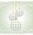 Vintage christmas baubles vector