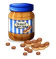 A jar of peanut butter vector
