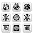 Human brain icons set - intelligence creativity c vector
