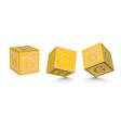Letter g wooden alphabet blocks vector