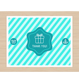 Thank you card in flat style vector