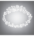 Lace white frame vector