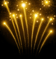 Holiday fireworks vector