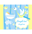 Baby greeting card vector