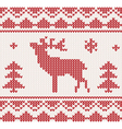 Christmas reindeer knitted background vector