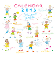 Calendar 2013 kids cover vector