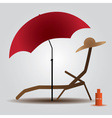 Summer beach parasol and bed eps10 vector
