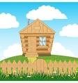 House on hill vector