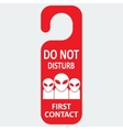 Hotel tag do not disturb with first contact vector