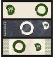 Zen circles banner set vector