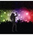 Singer performing vector