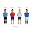 Football teams group d - uruguay costa rica vector