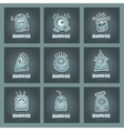 Cartoon aliens and monsters set vector