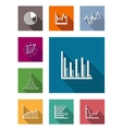 Color flat icons for various types of diagrams vector