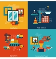 Construction icons composition flat vector