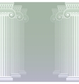 Classical greek or roman columns vector