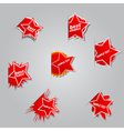 Set of different labels star vector