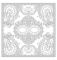 Coloring book square page for adults - ethnic vector