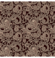 Hand draw ornate seamless flower paisley design ba vector