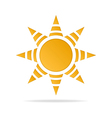 Icon of sun vector