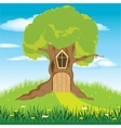 House in tree vector