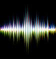 Shiny sound waveform vector