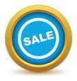Gold sale icon vector
