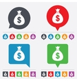 Money bag sign icon dollar usd currency vector