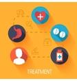 Flat medical icons concept background desig vector