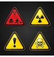 Hazard warning set vector