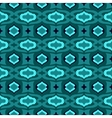 Pattern with arabic motifs in jade and blue vector