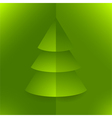 Pop up 3d paper christmas tree vector