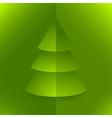 Pop up 3d paper christmas tree vector