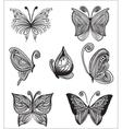 Floral butterflies vector