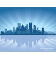 Pittsburgh pennsylvania skyline vector