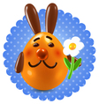 Sweet redhead rabbit congtatulations vector