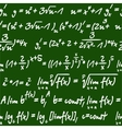 Seamless pattern of mathematical equations vector