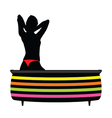 Girl in a bathtub with red panties vector