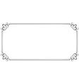 Horizontal frame element for design vector