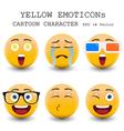 Yellow emoticon vector