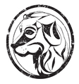 Dog stamp vector