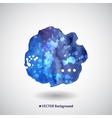 Watercolor blue background with blots vector