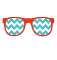 Glasses icon in flat style vector