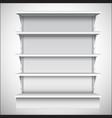 White supermarket shelves vector