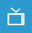 Tv icon white on the blue background vector