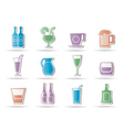Different kind of drink icons vector