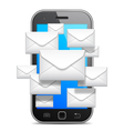 Mobile communication concept vector